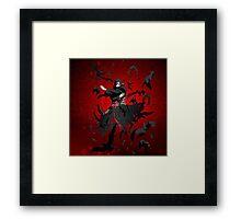 Itachi Sharingan Genjutsu Framed Print