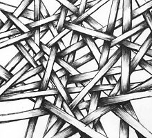 Hand Drawn Sketch - Interlocking Lines - Thatchwerk V1 by TSOBG