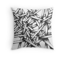 Hand Drawn Sketch - Interlocking Lines - Thatchwerk V1 Throw Pillow