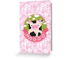 cow and milk Greeting Card