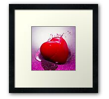 With a Passion Framed Print