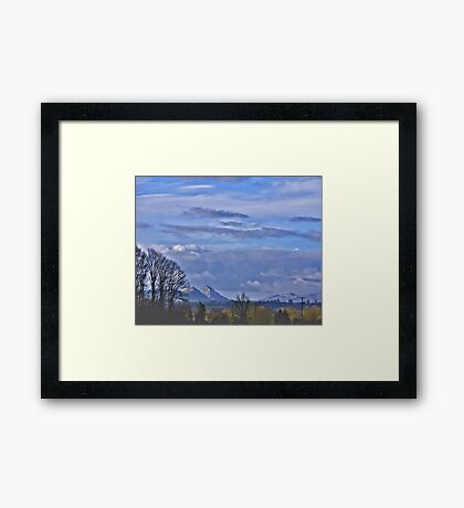 Secret Hills Framed Print