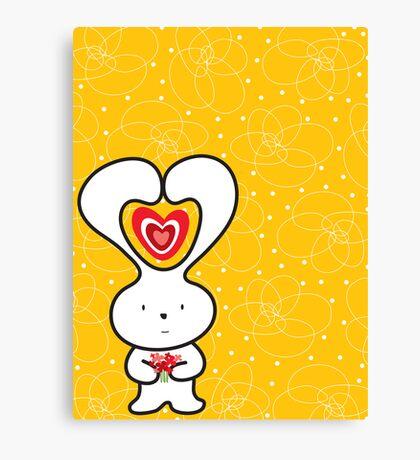 Valentine Bunny Canvas Print