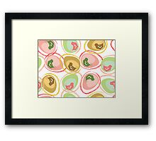 Pastel Chicks and Eggs Framed Print