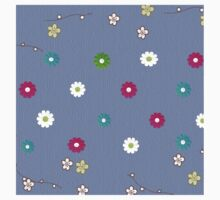 Floral,girly,cute,trendy,blue,modern,jean blue,template,customizable Kids Clothes
