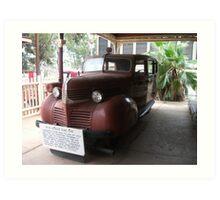 Broken Hill Sulphide St StnTrain Museum, Dodge rail car Art Print