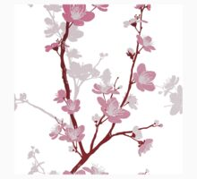 Japanese cherry blossom, gentle pink flower,girly,kawai,cute,template,customizable Kids Clothes