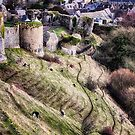 Corfe from the Top by Vicki Field