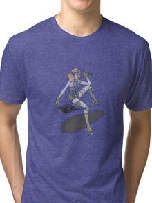 Mechanic Girl Tri-blend T-Shirt