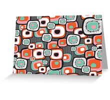 Retro Sushi Flower Squares Greeting Card