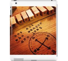 Stamp set iPad Case/Skin