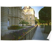 In the Luxembourg Gardens, Paris, August Evening Poster