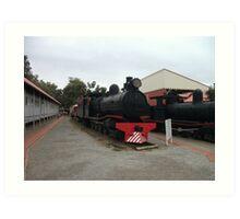 Broken Hill Sulphide St StnTrain Museum, Locomotive Art Print
