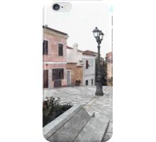Island La Maddalena: square statue and buildings iPhone Case/Skin