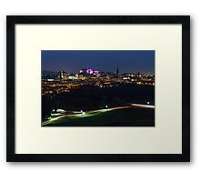 Castle Light Trails Framed Print