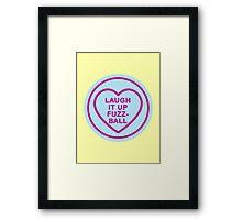 Geeky Love Hearts - Fuzzball Framed Print
