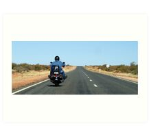 "Biker Outback Alice Springs  ""MAGIC"" No. Plates Art Print"