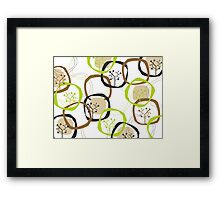 Earth Rings & Trees Framed Print