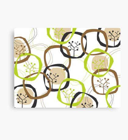 Earth Rings & Trees Canvas Print