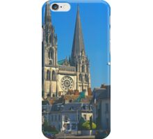 Chartres, Cathedral and Town iPhone Case/Skin