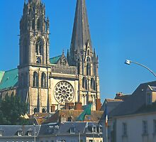 Chartres, Cathedral and Town by Priscilla Turner