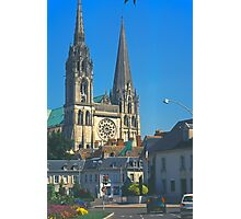 Chartres, Cathedral and Town Photographic Print
