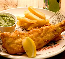 Fish, Chips and Mushy Peas by Elana Bailey