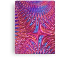 Zigzag in red and blue Canvas Print