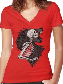 Lilith's Brethren colour Women's Fitted V-Neck T-Shirt