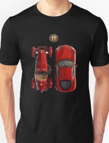 Alfa Romeo 8c Top View Unisex T-Shirt