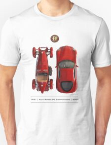 Alfa Romeo 8c Top View T-Shirt