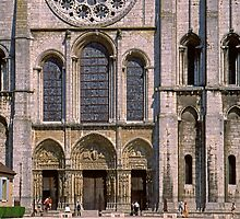 Chartres Cathedral, West Front by Priscilla Turner