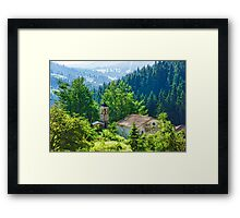 The Village Church - Impressions of Mountains and Forests Framed Print