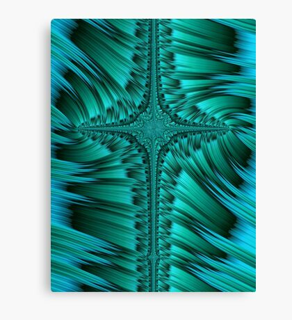 Green Cross Abstract Canvas Print