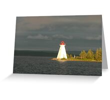 Lighthouse Maritime Province Canada Greeting Card