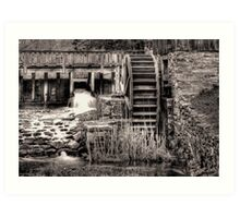 Grist Mill Water Wheel Art Print