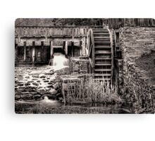Grist Mill Water Wheel Canvas Print