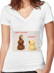 Happy Easter! Women's Fitted V-Neck T-Shirt