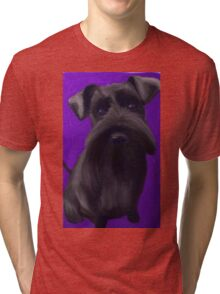Schnauzer Puppy Tri-blend T-Shirt