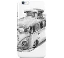 VW Type 2 Bus Split Screen Pop Top iPhone Case/Skin