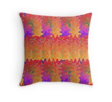 Leaves With a Twist Throw Pillow