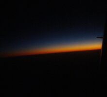 Sunset from the Plane by Sharon Robertson