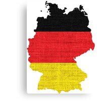 Germany Flag Map Canvas Print