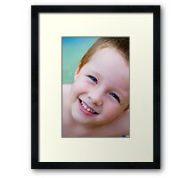 Looking to the future with hope Framed Print