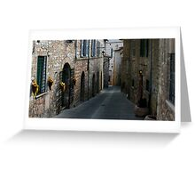 Early Evening, Assisi Greeting Card