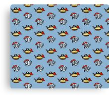 Pi and Pie Pirates pattern Canvas Print