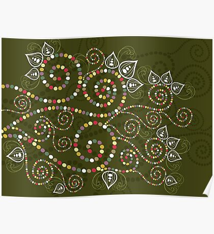 Ethnic Spiral Dreams Poster