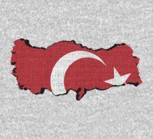 Turkey flag map by Nhan Ngo