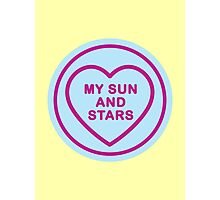 Geeky Love Hearts - Sun and Stars Photographic Print