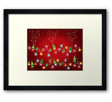 Sparkling Mini X'mas Tree Lights Framed Print